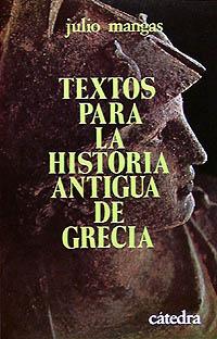 Cubierta de la obra Textos para la historia antigua de Grecia