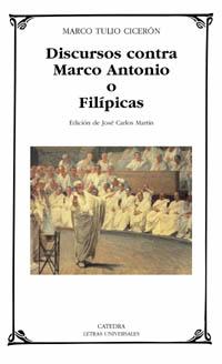 Cubierta de la obra Discursos contra Marco Antonio o Filípicas