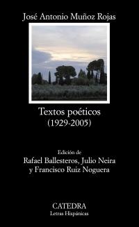 Cubierta de la obra Textos poéticos (1929-2005)