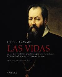 Cubierta de la obra Las vidas de los más excelentes arquitectos, pintores y escultores italianos desde Cimabue a nuestros tiempos