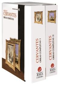 Cubierta de la obra Estuche Obras completas Cervantes Vols. I y II
