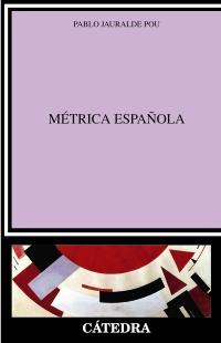 Cubierta de la obra Métrica española