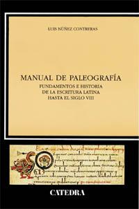 Cubierta de la obra Manual de paleografía