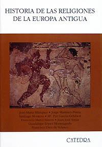 Cubierta de la obra Historia de las religiones de la Europa Antigua