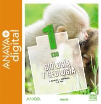 Portada: Biología y Geología 1. ESO. Anaya + Digital. Autor: Clemente Roca, Silvia; Domínguez Culebras, Mª Aurora; Ruiz García, Ana Belén